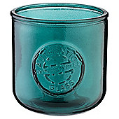 Recycled Glass Tealight Holder Turquoise
