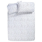 Tesco Basic Watercolour Polka Dot Single Duvet Set - Grey