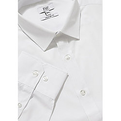 F&F Easy Iron Tailored Fit Shirt 15.5 White