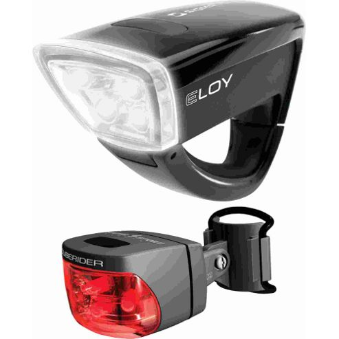 Sigma Sport Eloy + Cuberider Light Set: Black.