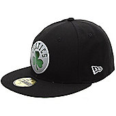 New Era Cap Co Teametallic Boston Celtics Fitted Cap Hat in Black Size: 7 1/4 inch
