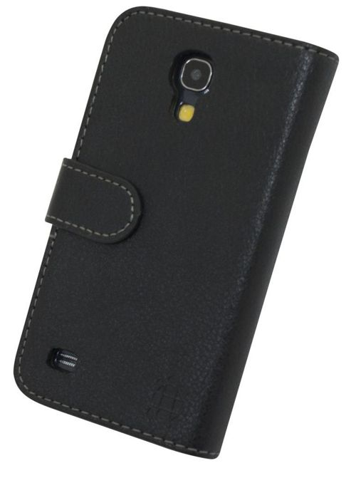 Tortoise™ Genuine Leather Folio Case Samsung Galaxy S4 Mini Black