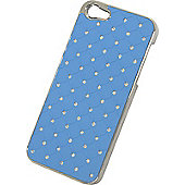 Tortoise™ Hard Protective Case for iPhone 5/5S,supplied in Blue Quilt effect.