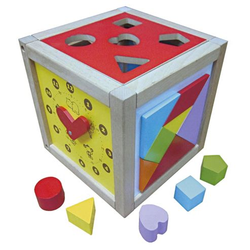Carousel Wooden Activity Cube