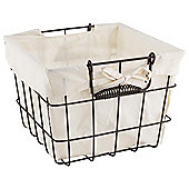 Dark Wire Storage Basket