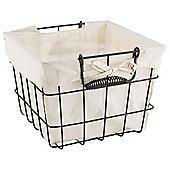 2 Set Dark  Wire Storage Basket