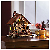 Dobbies Wooden House Clock