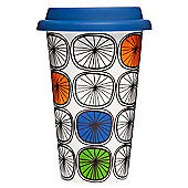 Sagaform Porcelain Travel Mug, Dandy Design