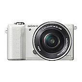 Sony ILCE-5000K (20.1MP) Digital Camera (White) + 16-50mm Power Zoom Lens