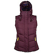 Shiver Womens Down Padded Gilet - Red
