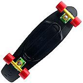 Nickel Complete OG Plastic Skateboard - Black/Rasta