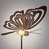Garden Glows Solar Powered Bronzed Butterfly Garden Stake Light