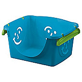 Tesco Smiley Face Stackable Plastic Storage Box, Blue