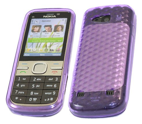 iTALKonline 17527 ProGel Skin Case Purple - For  Nokia C5