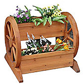 Bentley Garden Wooden Wheel Planter Trough