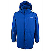Glacier Extreme Mens Waterproof Rain Coat Anorak Hooded Shower Proof Jacket - Electric blue