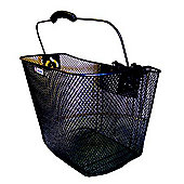 Adie Black Mesh Basket Plastic Holder