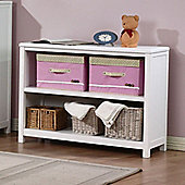 Hickory 2 Shelf Bookcase - White