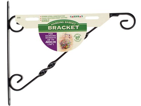 Gardman 03025 H.Basket Brkt Black 14-16in