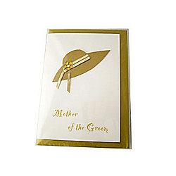 Little Gem Gold Mother of The Groom Wedding Card