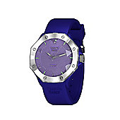 Tresor Paris Watch - ISL - Stainless Steel Bezel & Crystal Dial - Blue Silicone Strap - 36mm