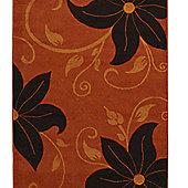 Oriental Carpets & Rugs Verona OC15 Terra/Brown Rug - 120cm x 170cm