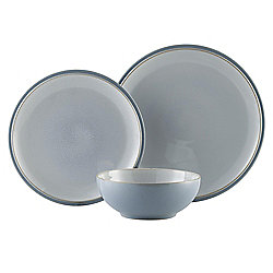 Denby Everyday 12 Piece, 4 Person Dinner Set, Cool Blue