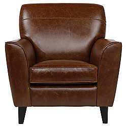 Byron Leather Occasional Chair, Caramel