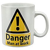 Tesco Danger Man at Work Large Single Porcelain Mug