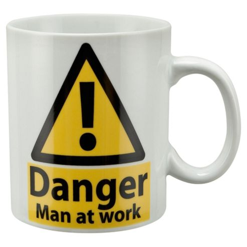 Tesco Danger Man at Work Large Single Porcelain Mug