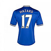 2013-14 Chelsea Home Shirt (Hazard 17) - Kids - Blue