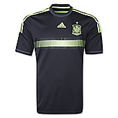 2014-15 Spain Away World Cup Football Shirt - Black