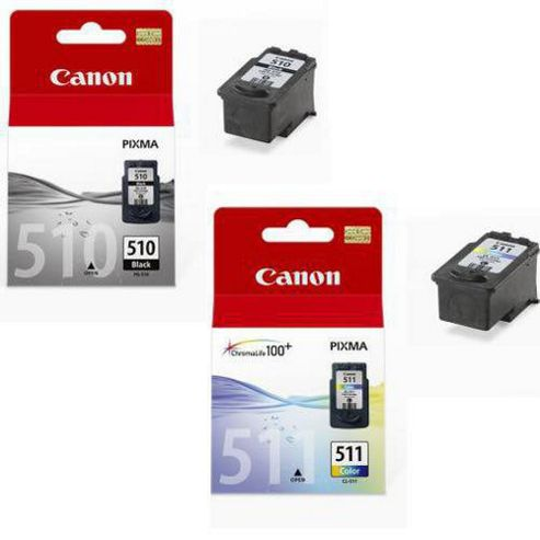 Canon 18 ml Original Ink Cartridges for Canon Pixma MP250 Pack of 2 - Black/Cyan/Magenta/Yellow
