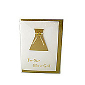 Little Gem Gold Flower Girl Wedding Card