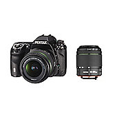 Pentax K-5 II SLR Camera 18-55mm, 50-200mm WR Black 16MP 3.0LCD FHD Weatherproof