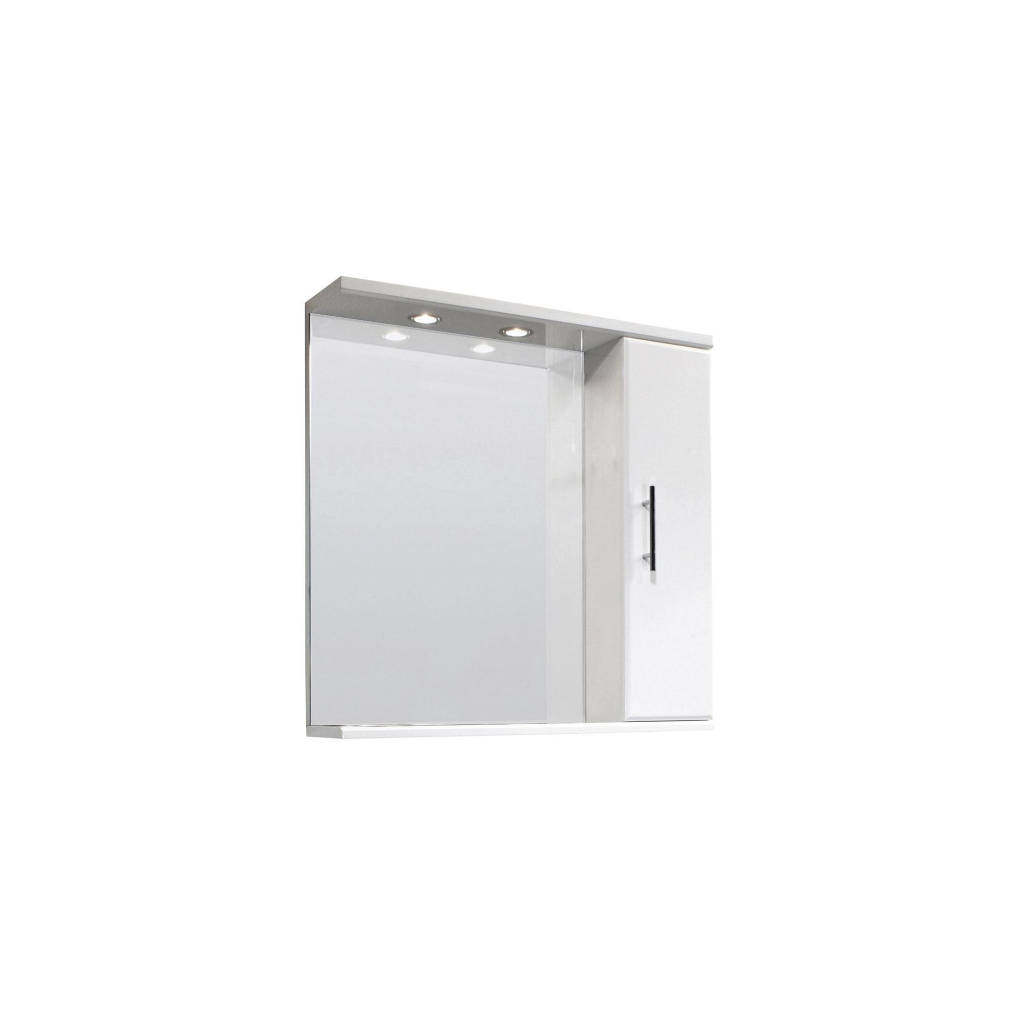 Premier Illuminated Mirror Vanity Cabinet 750mm High Gloss White