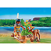 Playmobil Native American Girl With Forest Animals Gift Egg - 5278