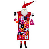 Colourful Hanging Felt Father Christmas Advent Calendar