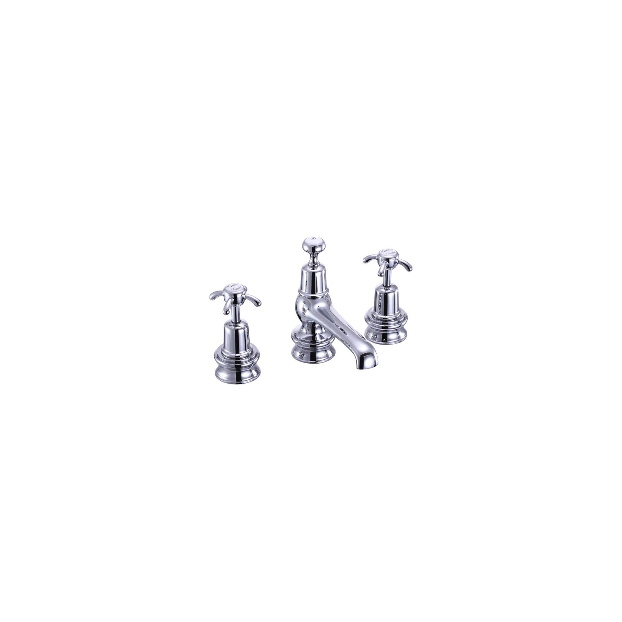 Burlington Anglesey Regent 3 Hole Basin Mixer Tap with Pop-Up Waste, Deck Mounted, Chrome at Tesco Direct