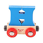 Bigjigs Rail Rail Name Letter H (Blue)