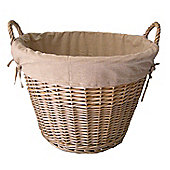 Wicker Valley Lined Log Basket
