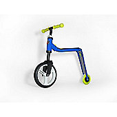Scoot & Ride Highwayfreak 2-in-1 Scooter & Balance Bike, Blue/Yellow