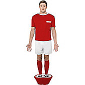Subbuteo Red Strip - Adult Costume Size: 42-44