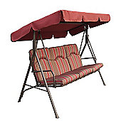 Amalfi Padded 3 Seater Swing Seat With Canopy