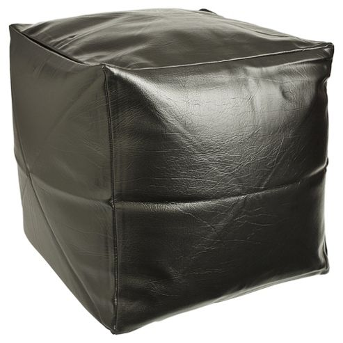 Faux Leather Cube Black