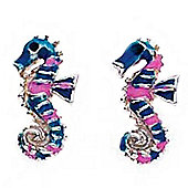 Girl's Seahorse Stud Earrings