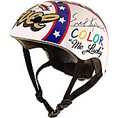 Official and Signed Evel Knievel Helmet by Kiddimoto - Small