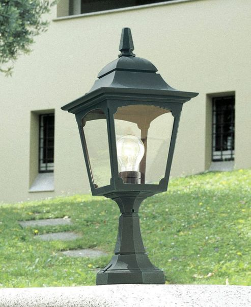 Elstead Lighting Chapel Pedestal Lantern - Black