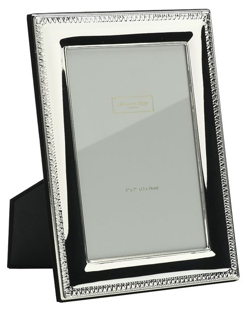 Addison Ross Photo Frame Silver Plate Tooth Frame - 10 cm x 15 cm