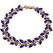QP Jewellers 7.5in 16.50ct Amethyst Butterfly Bracelet in 14K Rose Gold